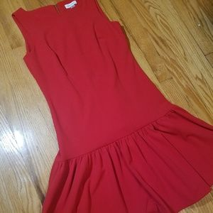 NWT Calvin Klein Sleeveless Midi Trumpet Dress